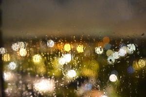 Rain Art - out of the window last night