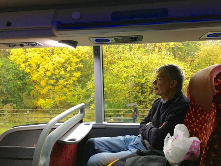 Relaxing on the bus to Oxford.