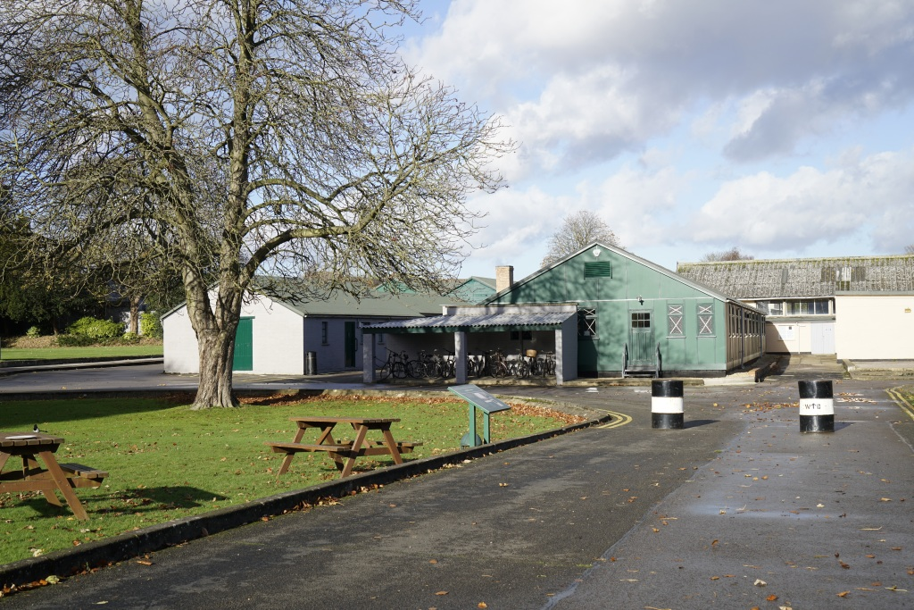 A view of the sheds where people worked at Bletchley Park