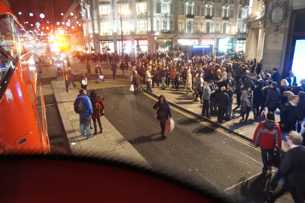 Busy Friday night in London