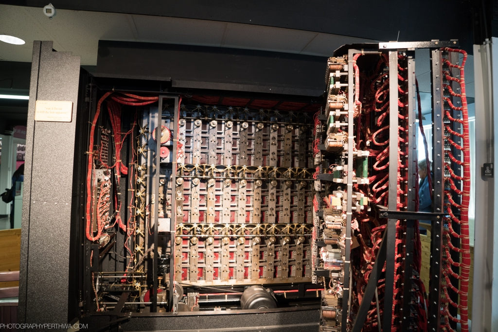 The rear of the Bombe used in the demonstration in the Museum at BP