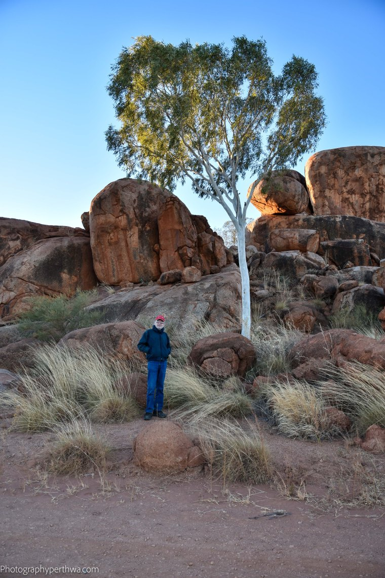 Devils Marbles - the Red Capped Wanderer (1 of 1)