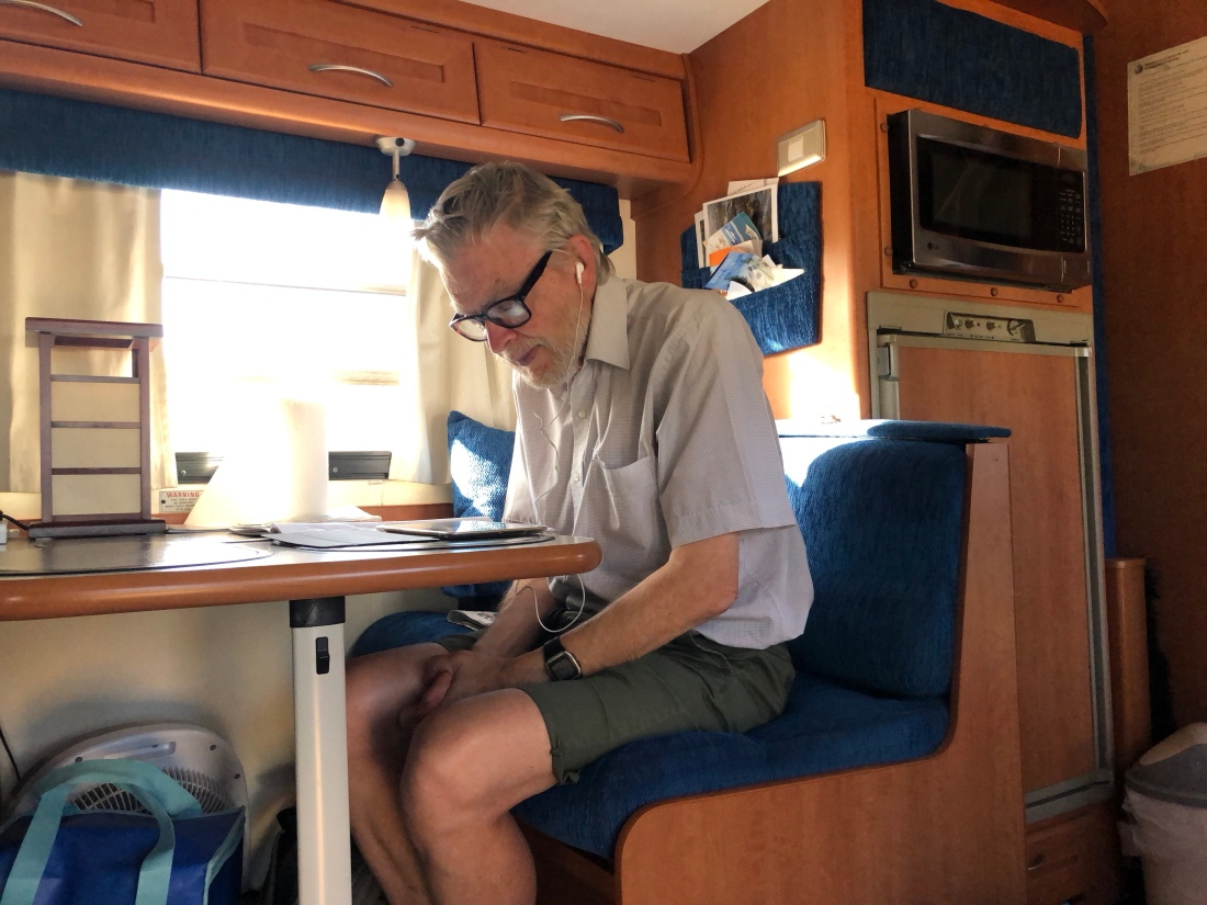 Stephen studying Mandarin
